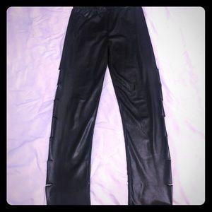 Leggings, faux leggings, side slits, small